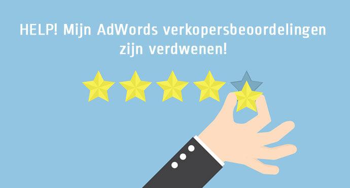 Google AdWords verkopersbeoordelingen zijn verdwenen