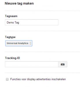 Google Tag Manager TrackingID