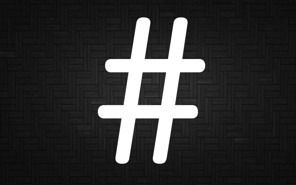 etiquettes van de hashtag
