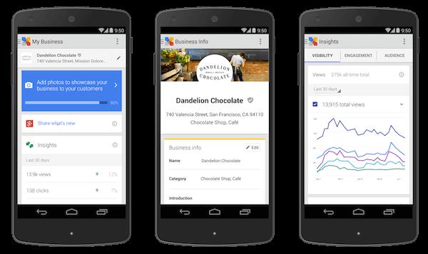 Google Mijn Bedrijf Android