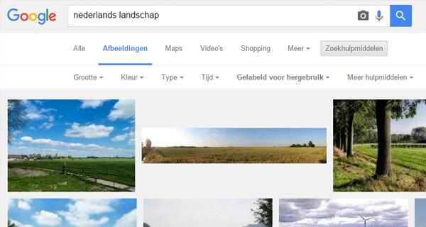 Gratis foto's met slim Googelen