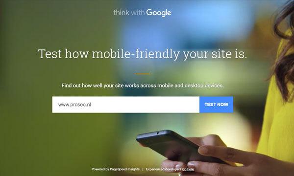Google Mobielvriendelijke test
